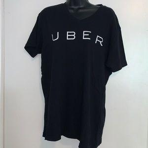 UBER Black T-Shirt Size Large EUC